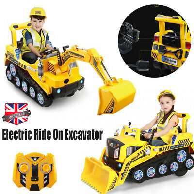 Electric Ride On Excavator Bulldozer Kids Children Play Fun Toy Battery Operated • 135.99£