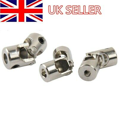 3 4 5 6mm Steel Universal Joint Connector Shaft Coupler For RC Model Car Boat UK • 1.99£