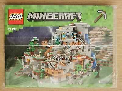Lego Minecraft 21137 The Mountain Cave - INSTRUCTIONS MANUAL ONLY - Brand New • 37.99£