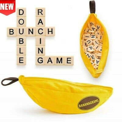 New Bananagrams Word Game Puzzle Kids Party Fun Toy Case Activity Letter Pouch • 7.98£