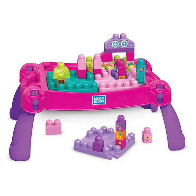 Mega Bloks Pink Build And Learn Table - 30 Pieces • 23.99£