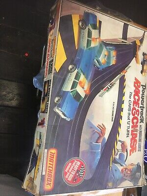 Retro Matchbox Powertrack Race & Chase Slot Car Racing Set , Spares Or Repairs! • 37.55£