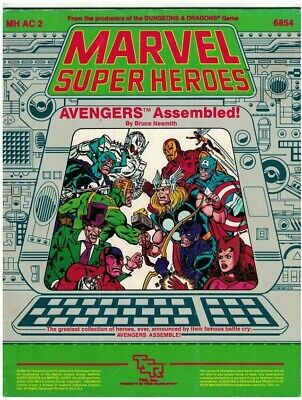Marvel Super Heroes Avengers Assembled! Module TSR Roleplaying Game RPG • 10.99£