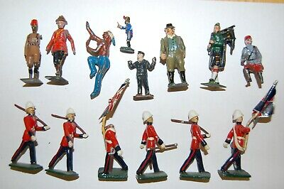 JOB LOT OF VINTAGE BRITAINS & OTHER MAKERS LEAD SOLDIERS                     S13 • 10.50£