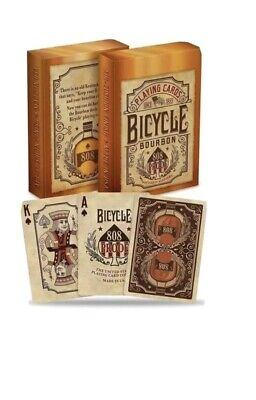 Bicycle Bourbon  Poker Playing Cards Deck By USPCC UK 🇬🇧 SELLER • 7.25£