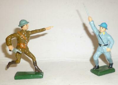 Lineol Vintage Composition British And German Soldiers • 4.99£