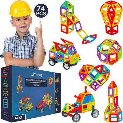 Limmys Magnetic Building Blocks – Unique Travel Series Construction Toys For Boy • 18£