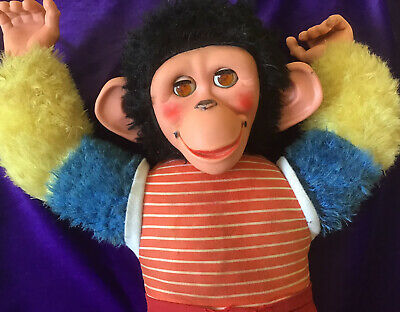 Vintage Original  Chad Valley Jacko The Monkey Soft Toy . In Need Of TLC • 4.99£
