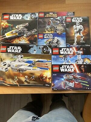 Lego Instructions Manuals Bundle Star Wars 75172,75114,75138,75155,75126,75135 • 10£