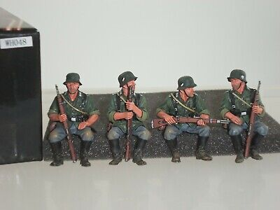 King And Country Wh048 German Wehrmacht Sitting Troops Metal Toy Soldier Set • 249.99£
