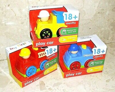 My First Play Car - Full Set Of 3 (Police Car, Fire Truck & Dump Truck) [NEW] • 9.99£
