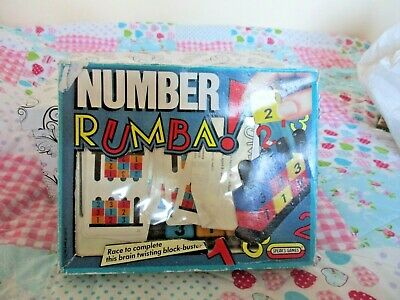 Very Rare Number Rumba Vintage Board Game By Spear's Games 100% Complete VGC • 7.50£