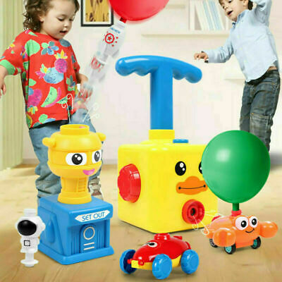 Inertia Balloon Launcher & Powered Car Toy Set Toys Gift For Kids Experiment • 9.89£