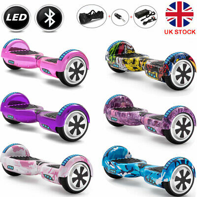 6.5  Hoverboard Bluetooth Electric Scooters LED Self-Balancing Scooter+Key+Bag • 121£