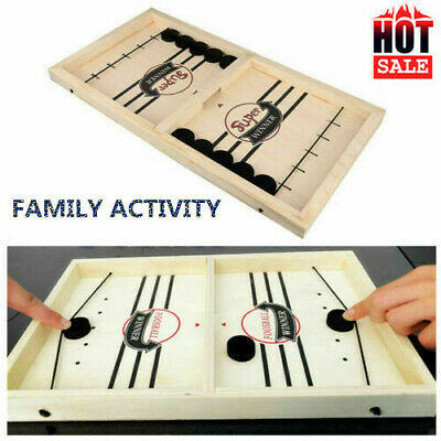 Wooden Hockey Game Table Game Family Fun Game For Kids Children 100% NEW • 13.88£