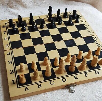 Wooden Chess Set/one Is Missing/ • 4.99£
