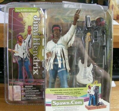 Jimi Hendrix Action Figure-mcfarlane Toys-opened But Complete • 80£