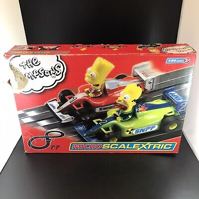 The Simpsons Micro Scalextric Hornby Very Good Condition Simpson's Collectable • 19.99£