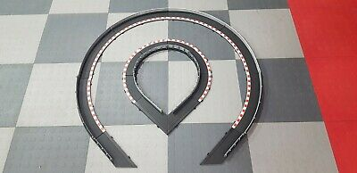 Scalextric 1:32 Sport Black Borders & Barriers - 6 Outer, 6 Inner, 4 Lead In >> • 14.99£