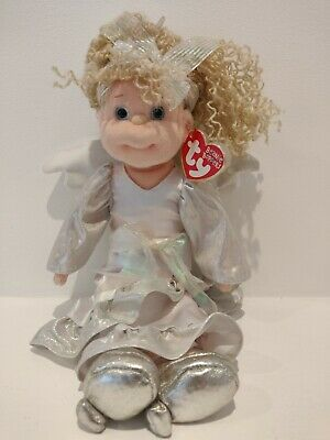 Collectors Item TY Beanie Baby Bopper Heavenly Heather With Angel Wings 2003 New • 25£