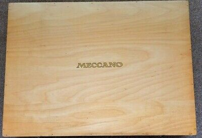 Original Meccano Storage Box. Oak Finish, 1958. Very Good Condition.   • 75£
