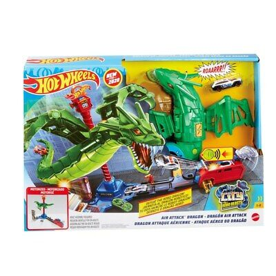 Hot Wheels City Air Attack Dragon Playset Cars Track Toys For Kids • 39.99£
