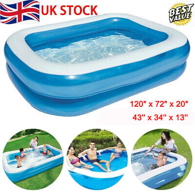 Large Family Swimming Pool Outdoor Garden Summer Inflatable Kids Paddling Pools • 12.99£