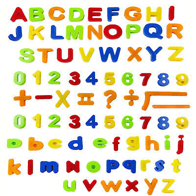 Kids Learning Teaching MAGNETIC Toy Letters Numbers & Symbols Fridge Magnets • 5.79£
