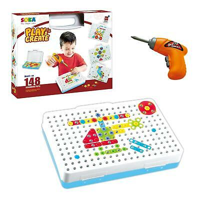 SOKA Electric Drill Puzzle Toy Contruction Activity Centre  For Kids Children • 11.99£