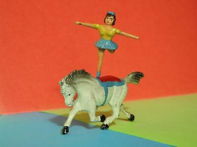 Timpo Toys Vintage 1945-55 Lead Very Rare Circus Equestrienne On Trotting Horse • 149.99£