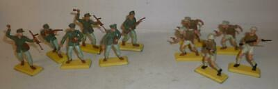 BRITAINS DEETAIL 1970'S  BRITISH 8th ARMY AND GERMAN AFRIKA KORPS SOLDIERS • 4.99£