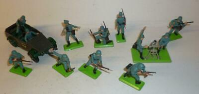 Britains Deetail 1970's German Infantry Soldiers With Mortar And Kubelwagen • 6.50£