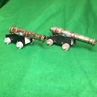 2 X Britains Naval Cannons 18th Century In Battle Worn Condition • 12£