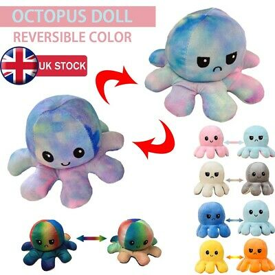 Double-Sided Flip Reversible Octopus Plush Toy Squid Stuffed Doll Toys Gift • 5.99£