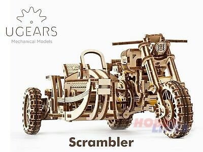 UGears SCRAMBLER MOTORCYCLE UGR-10 Bike Wood Mechanical Construction Puzzle Kit • 20.69£