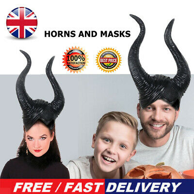 Halloween Head Cover Witch Prop Horn Head Mask Headgear Bar Party Show Tool • 9.69£