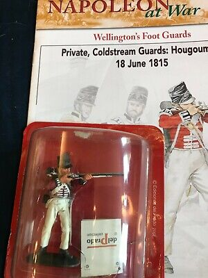 Del Prado Napoleon At War Models With Booklet Coldstream Guard Hougoumont 1815 • 7£