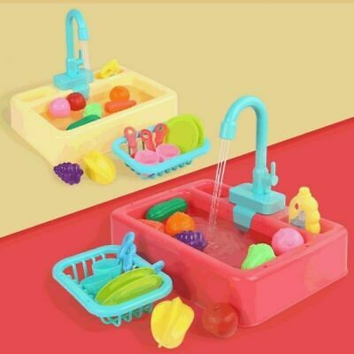 Simulation Electric Dishwasher Sink Toys For Pretend Play Kitchen Kids Toys UK • 12.99£