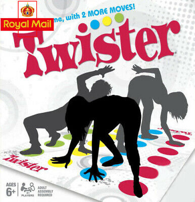 Funny Twister Classic Family Kid Children Party Body Game W/ 2 More Moves Indoor • 5.45£
