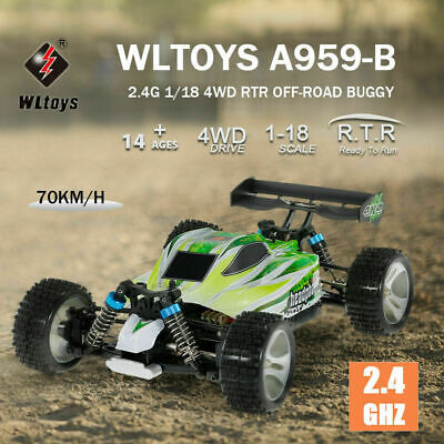 WLToys A959-B 70km/h High Speed Off-road Vehicle 1/18 4WD • 49.90£