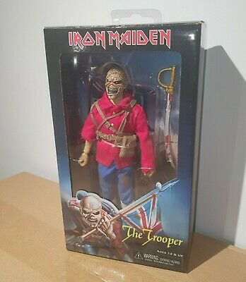 Neca Iron Maiden Eddie The Trooper 8  Retro Clothed Action Figure (mego) • 23£