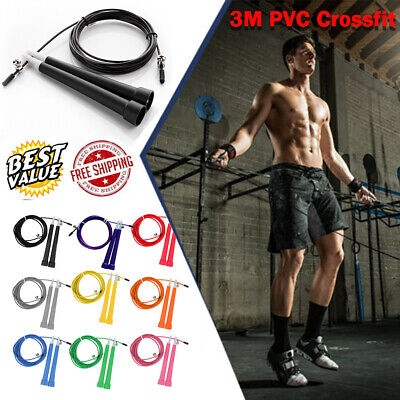 Skipping Rope Speed Jumping Boxing Crossfit Exercise Weight Loss Fitness MMA UK • 2.98£