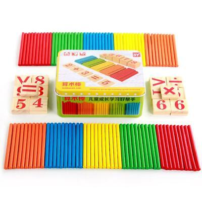 Wooden Toys For Children Mathematics Game Stick Math Numbers Counting Rods • 9.13£