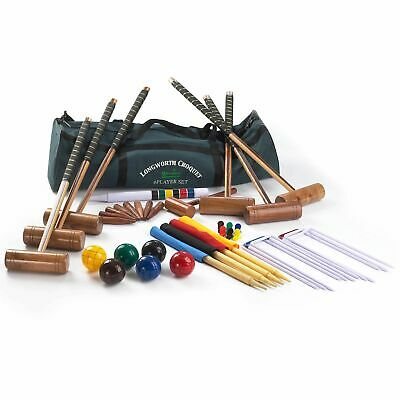 Big Game Hunters Croquet Set Longworth 6 Player Full Size Adult Garden Game • 174.99£