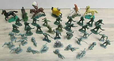 Assorted Vintage Toy Soldiers Horses Timpo Britains Blue Box Lone Star Herald • 4.99£