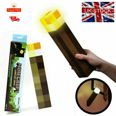 Minecraft Light Up Mountable Wall Night Torch Reading Lamp Kids Childre Fun Gift • 12.50£