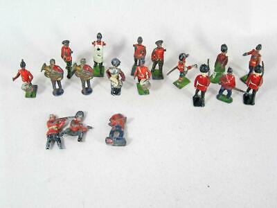 20 VINTAGE ALL METAL BRITAINS & OTHER COWBOYS & INDIANS FIGURES Lead Die Cast • 19.99£