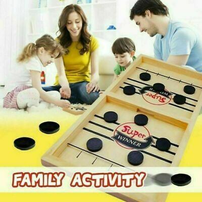 Wooden Hockey Game Table Game Family Fun Game For Kids Children 100% NEW  UK • 9.95£