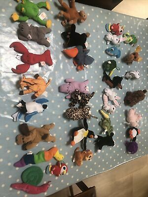 33 Bundle Soft Toys By TY, McDonalds, Other, Beanies Plush Mini Animals. Clean. • 5£