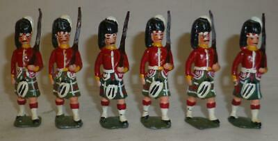 SIX UNIDENTIFIED WHITE METAL SEAFORTH HIGHLANDERS MARCHING - 54mm • 4.99£